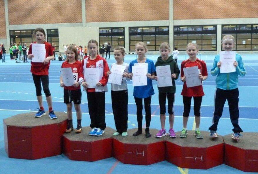 Siegerehrung 800m der 10jährigen Mädchen