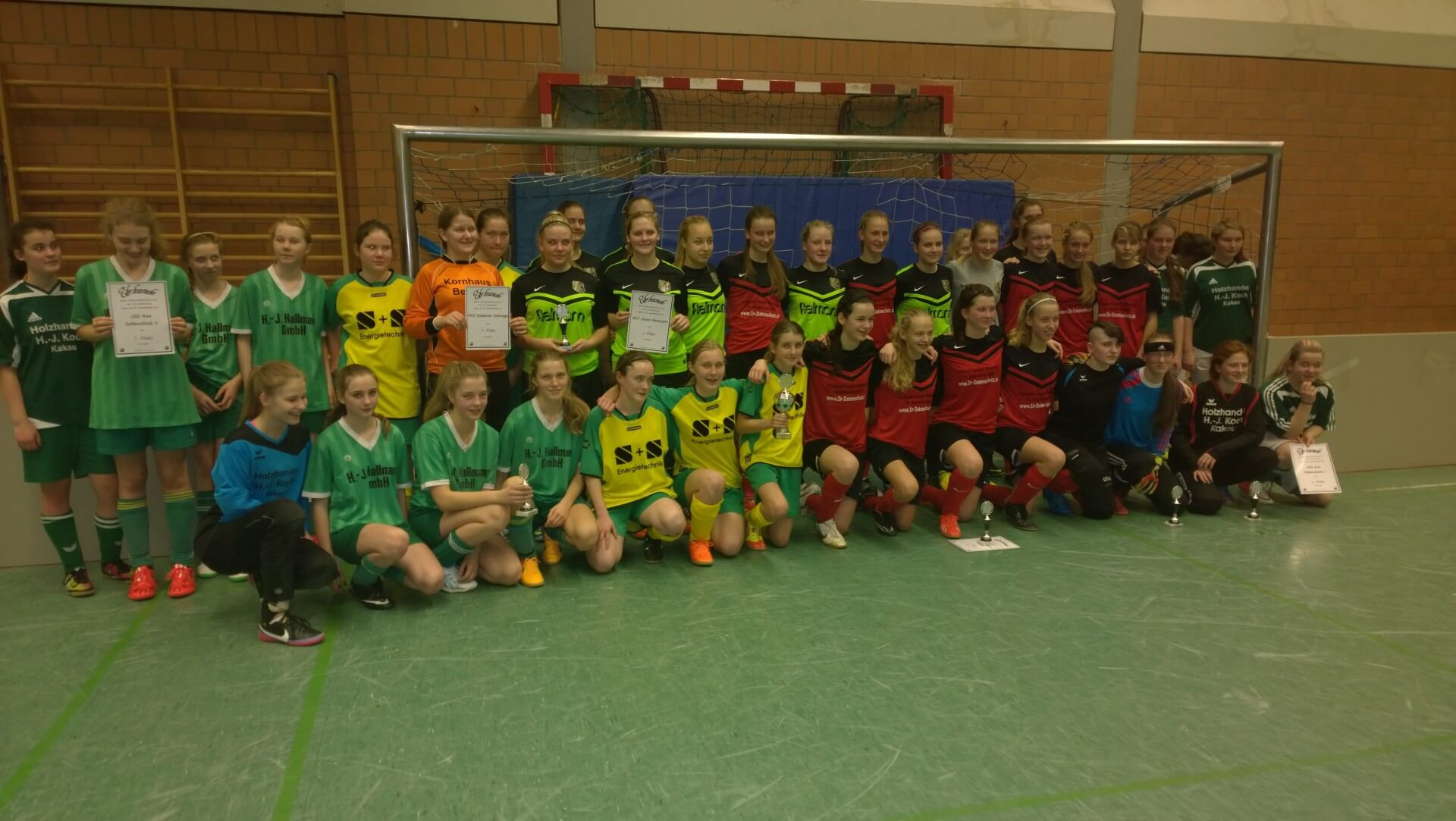 Mannschaften B-Juniorinnen Turnier © mv