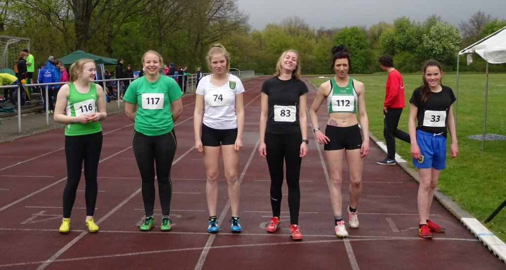 Vorfreude auf den 800 m Lauf