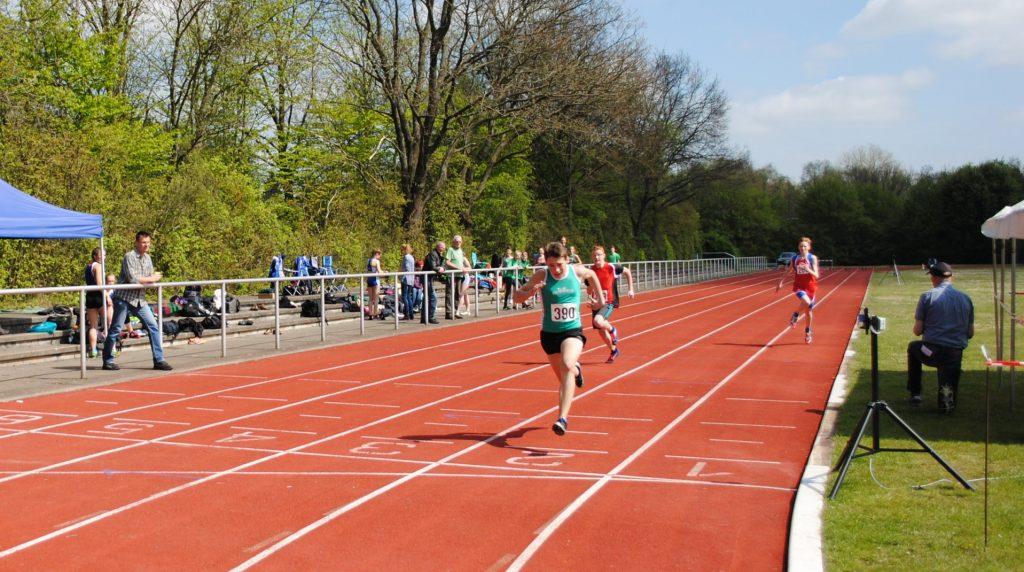 Zieleinlauf 100 m Sprint M14 ©ra