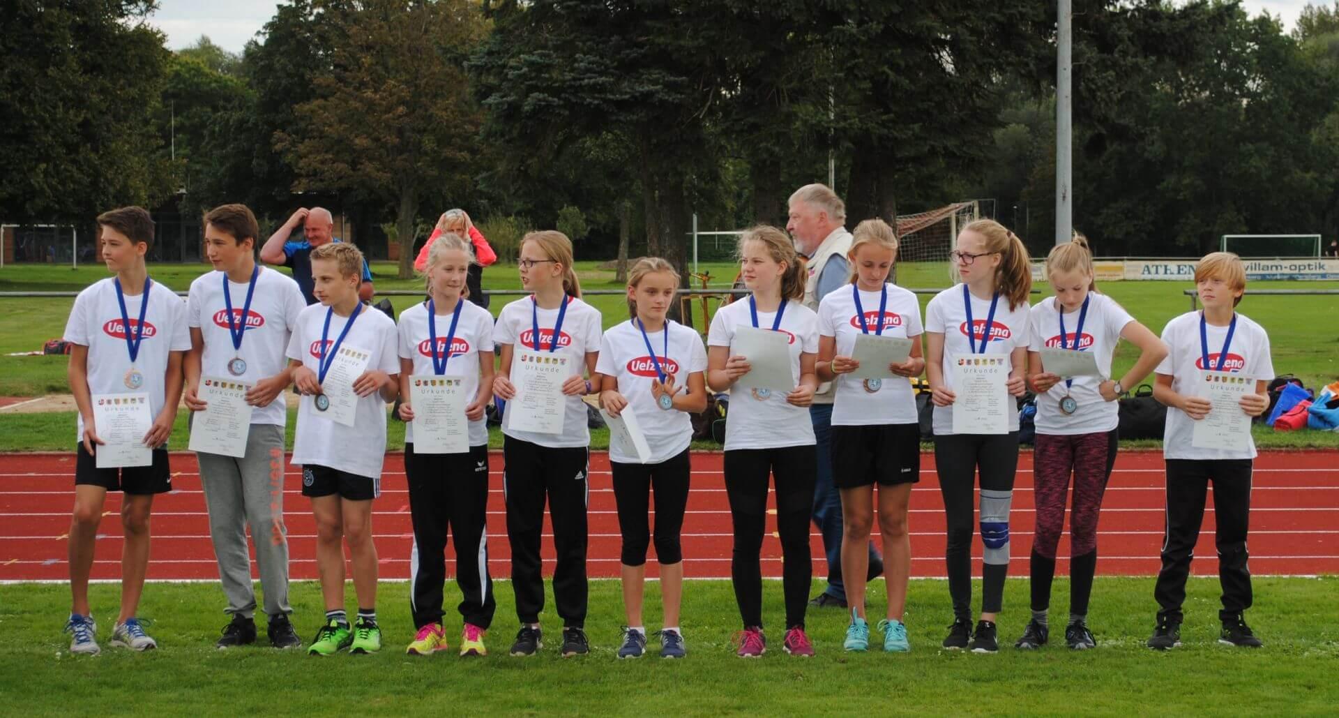 Kreisvergleichswettkampf - Mannschaft M/WJ U14 des KLV Uelzen