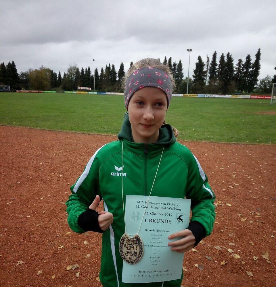 Siegerin über 800 m
