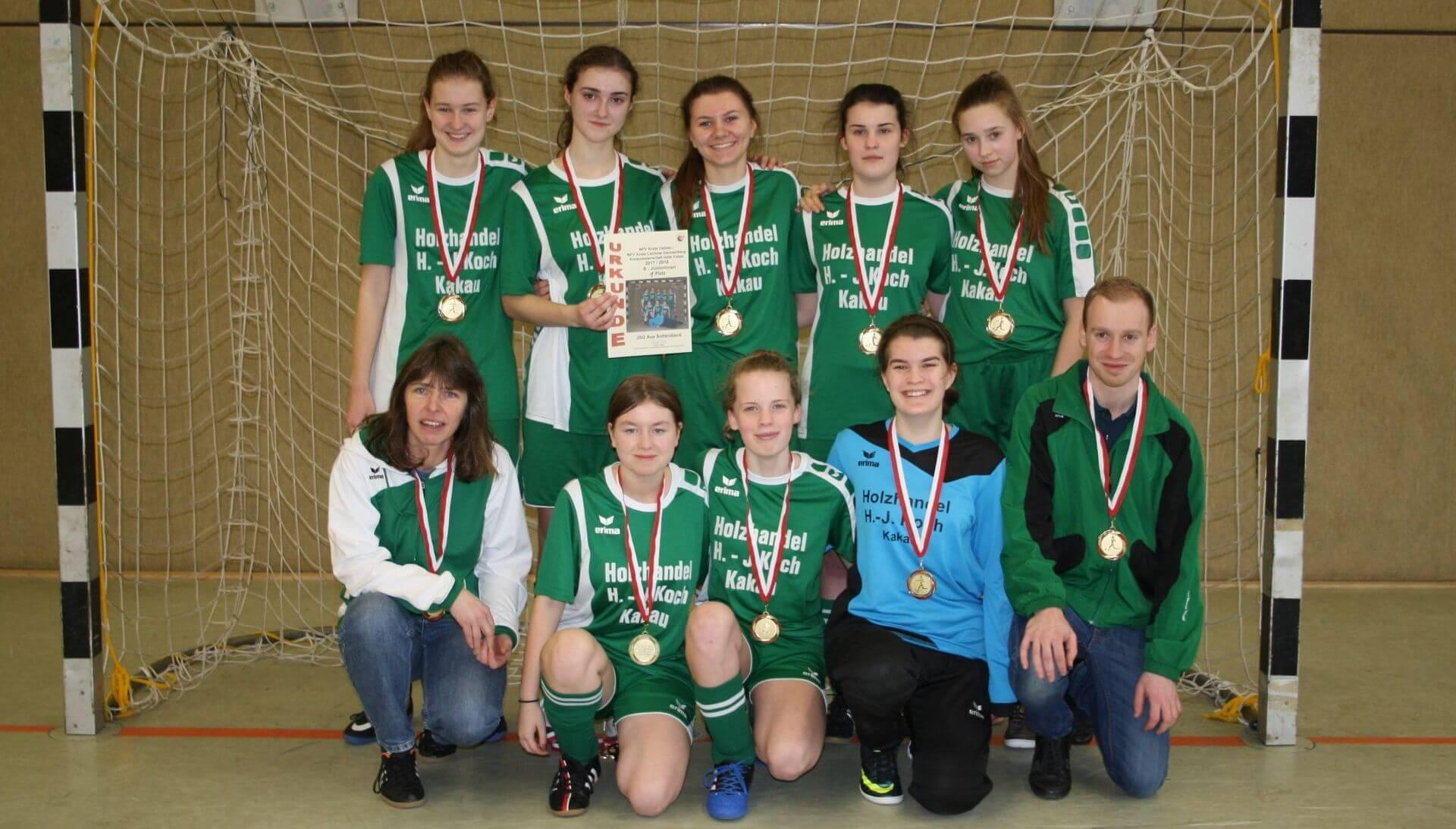 B-Juniorinnen JSG Aue Soltendieck Futsal-Kreismeister 2018
