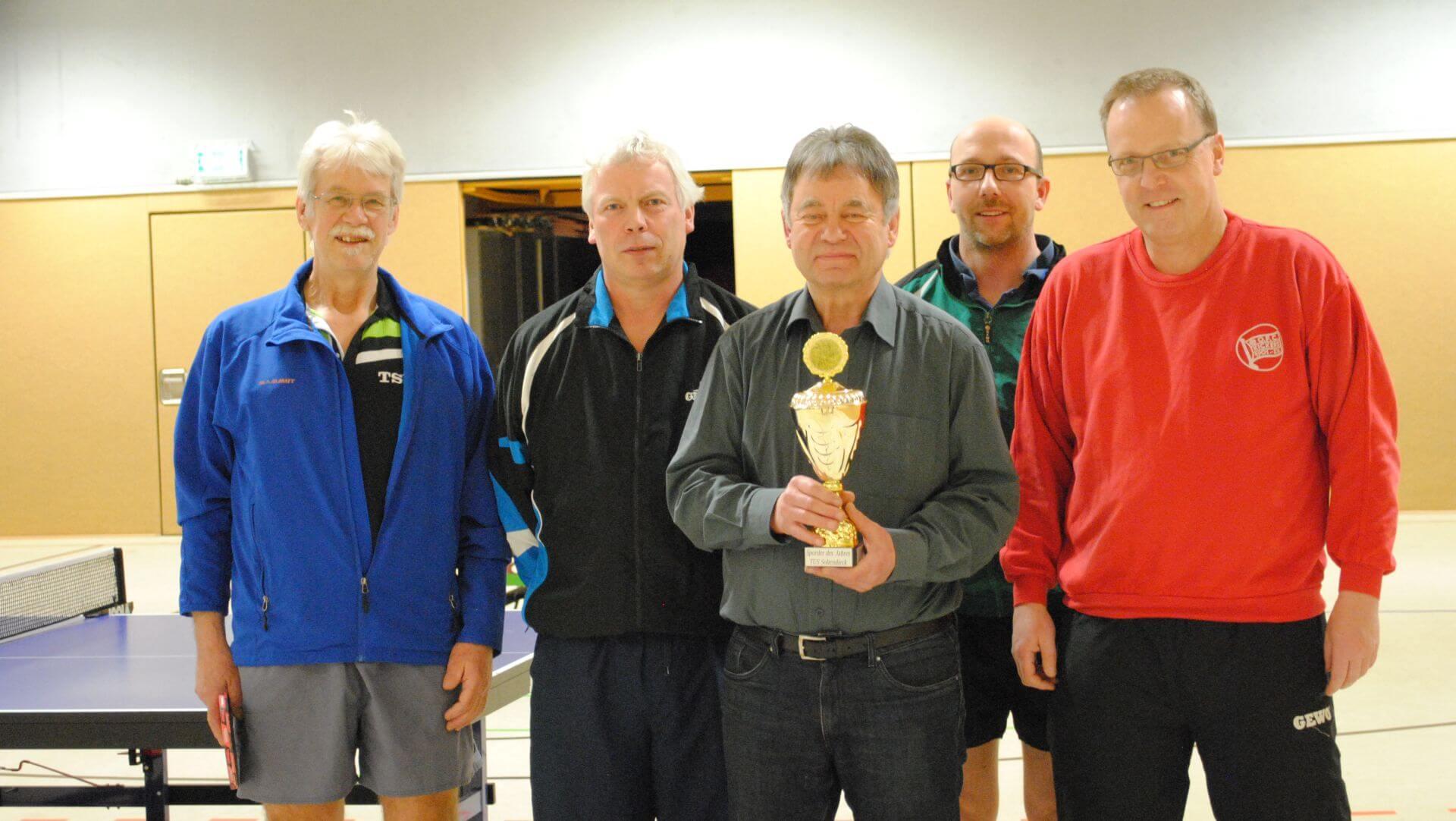 Sportler des Jahres 2017 mit Vereinskameraden der Tischtennissparte